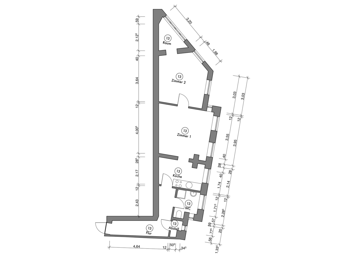 Floor plan unit 13 | Erasmusstraße
