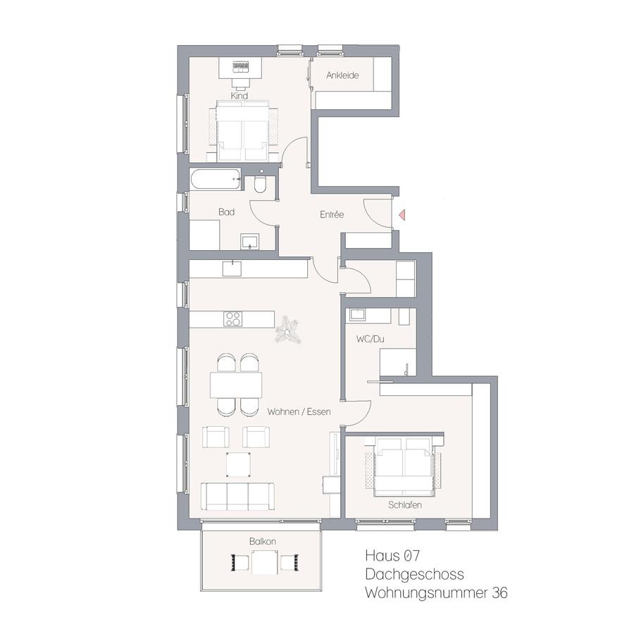 Haus 07 DG WE36 | Hauptstraße
