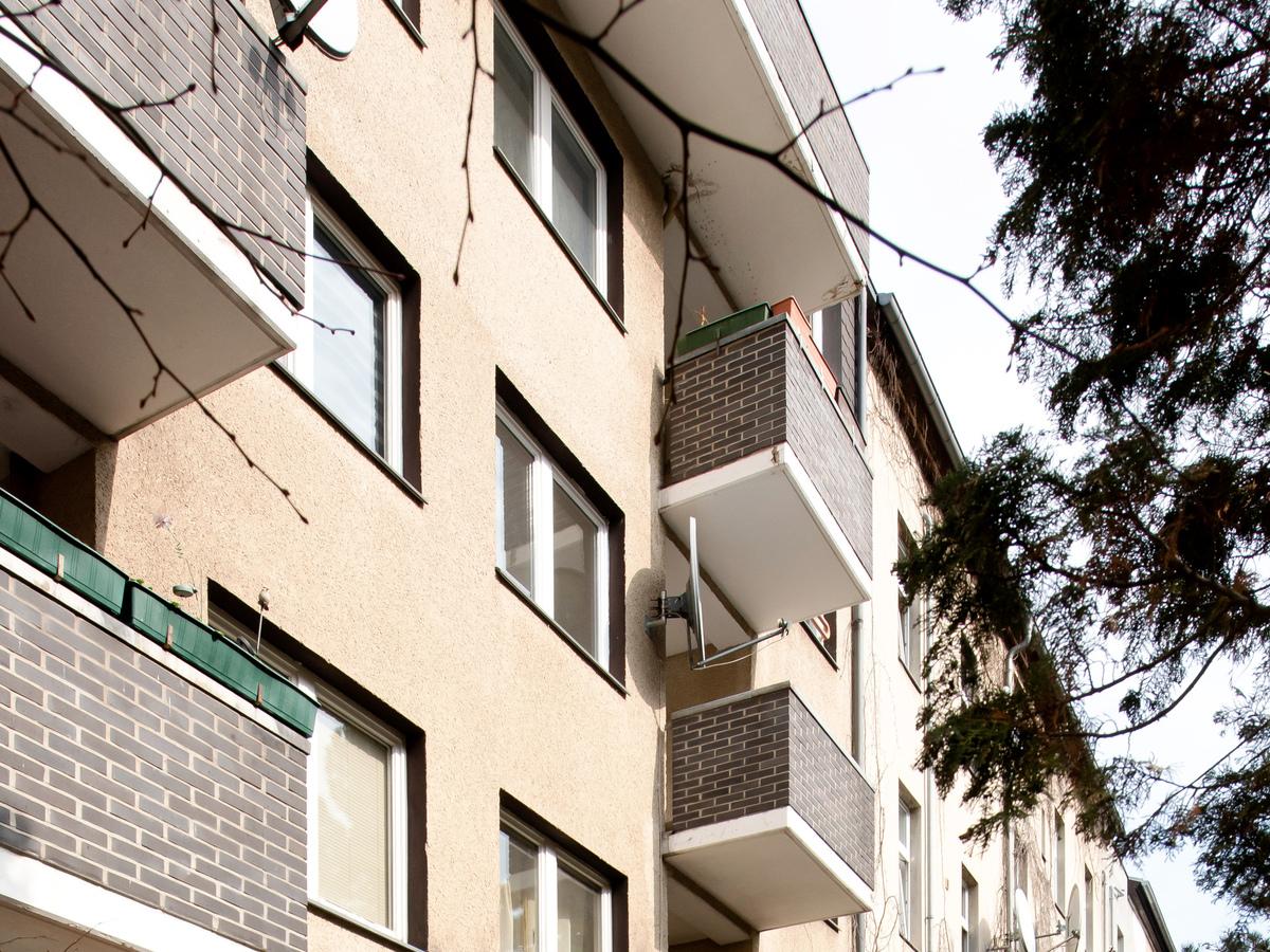 Rückansicht Balkone | Kopfstraße