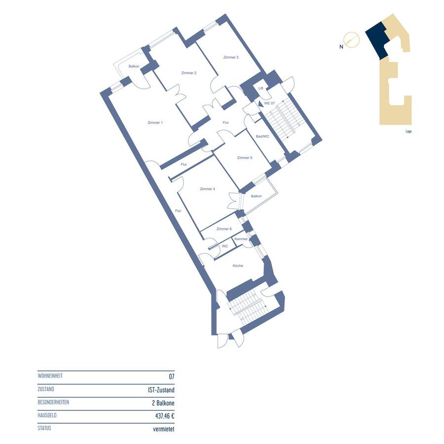 Floor Plan Unit 7 | Riehlstraße