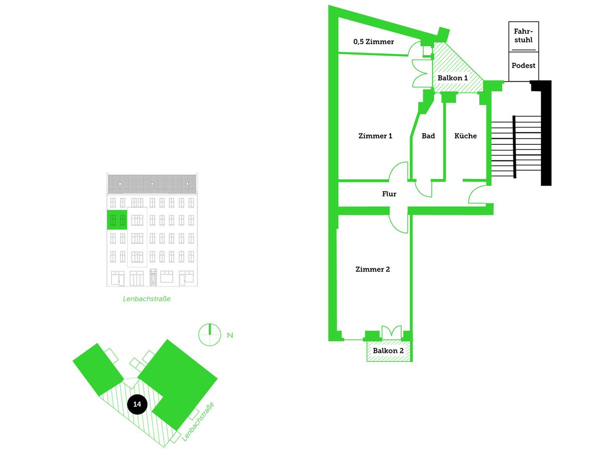 Floor plan unit 14 | Lenbachstraße