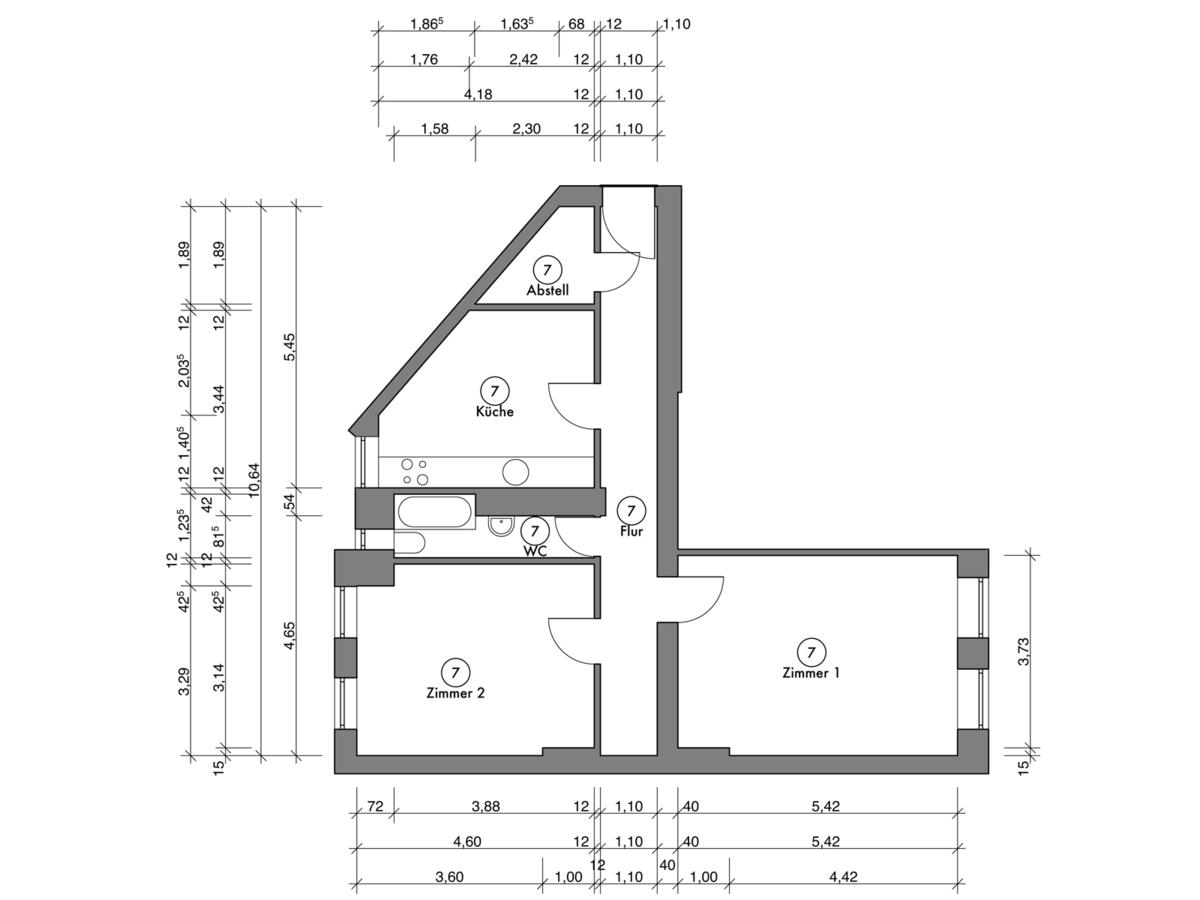 Floor plan unit 07 | Erasmusstraße