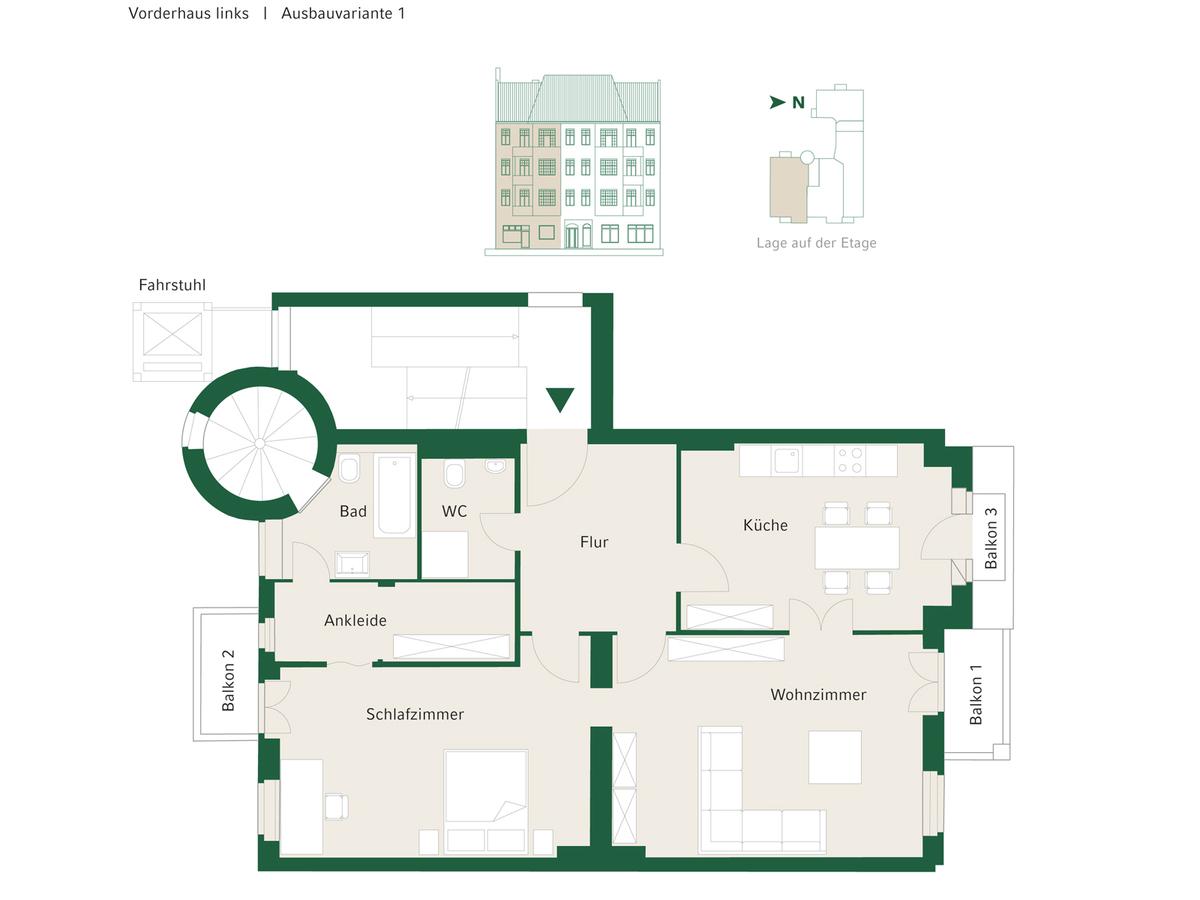 Floorplan Unit 04 configuration option 1   Johannisberger Straße