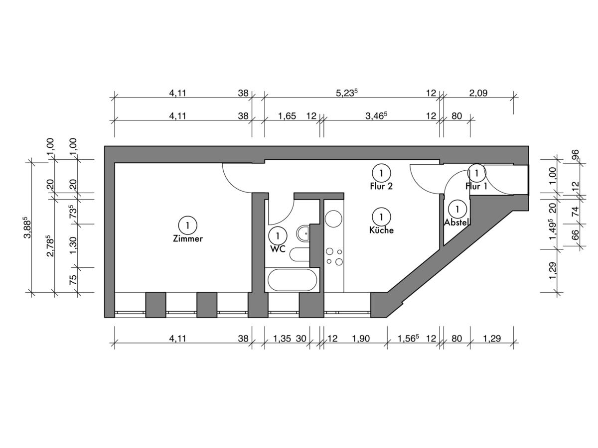 Floor plan unit 01 | Erasmusstraße