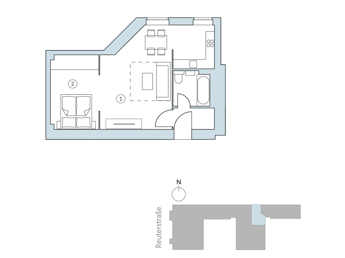Floor plan unit 25 | Reuterstraße