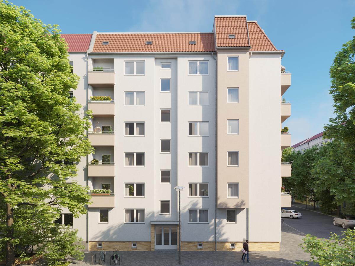 Rendering Weichselstraße | Scharnweberstraße
