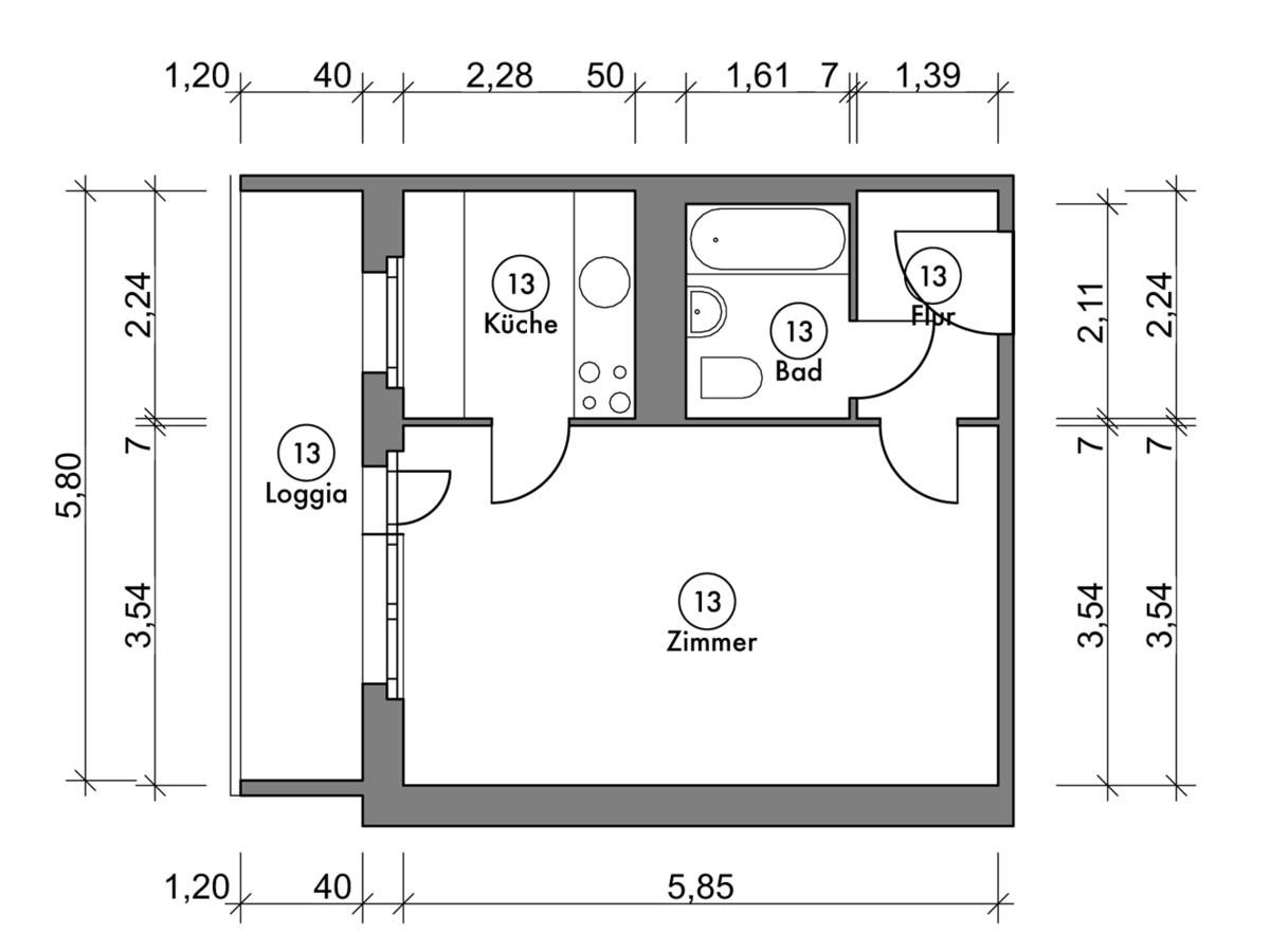 Floor plan unit 13 | Marchwitzastraße