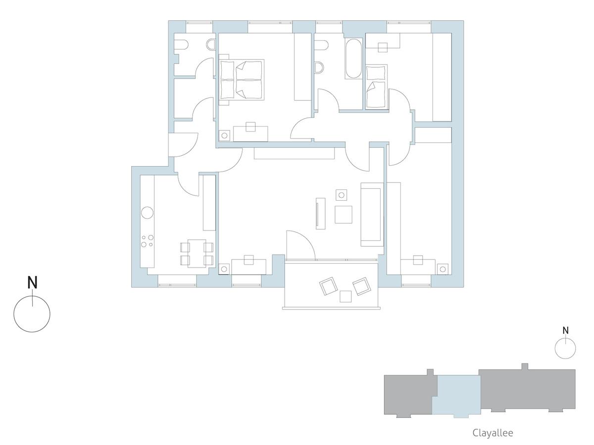 Floor plan unit 31 | Clayallee