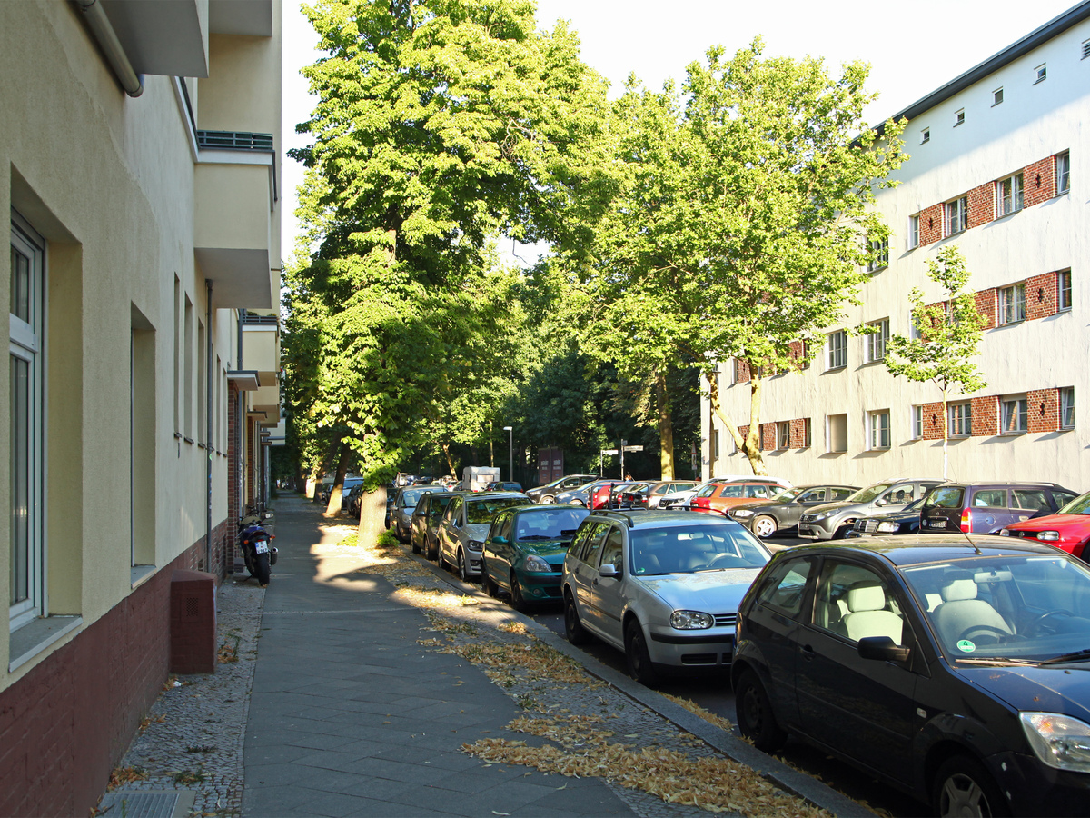 Blickrichtung Zachertsportplatz | Zachertstraße