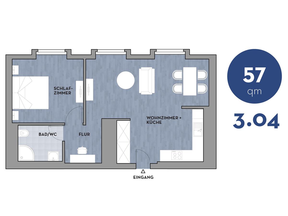 Floor plan 304 | Dorotheenstraße