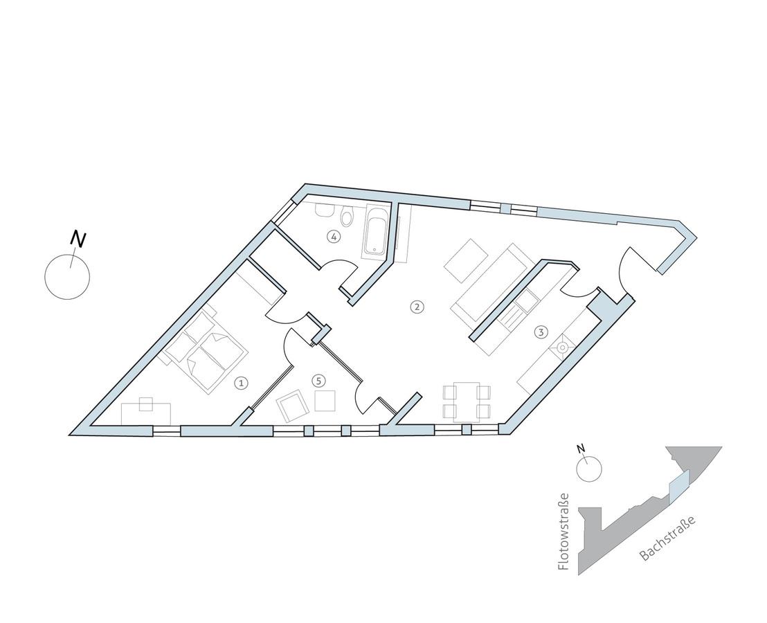 Floor plan unit 42   Bachstraße