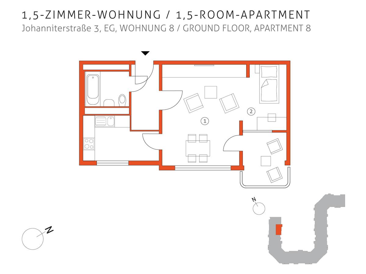 Grundriss 8 | Johanniterstraße