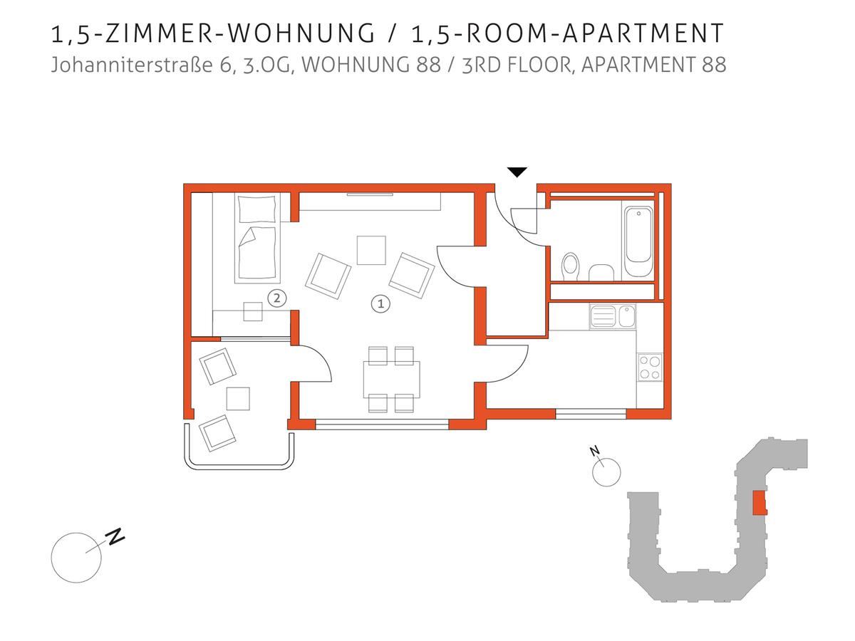 Grundriss 88   Johanniterstraße