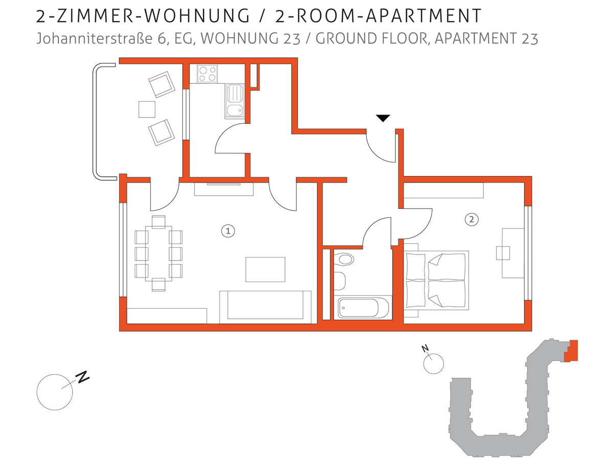 Grundriss 23 | Johanniterstraße