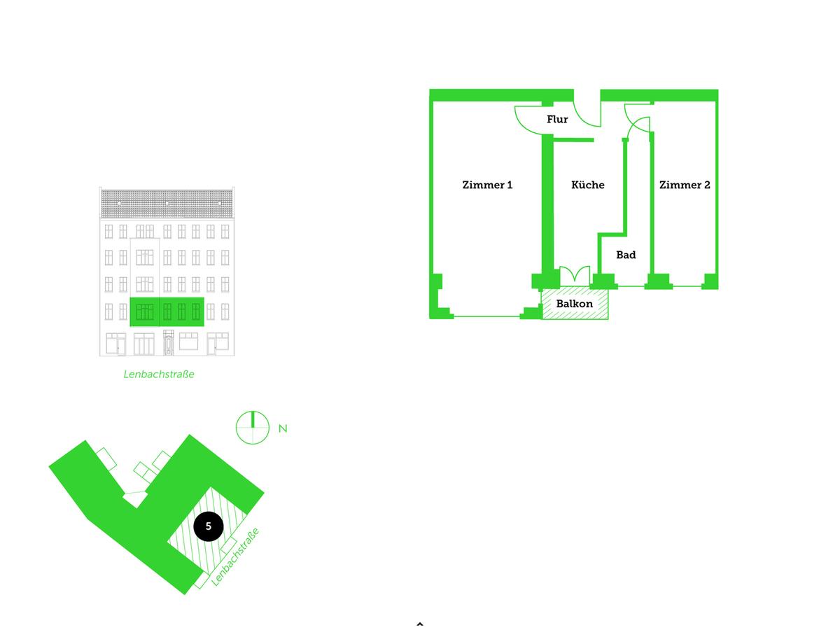 Floor plan unit 5   Lenbachstraße