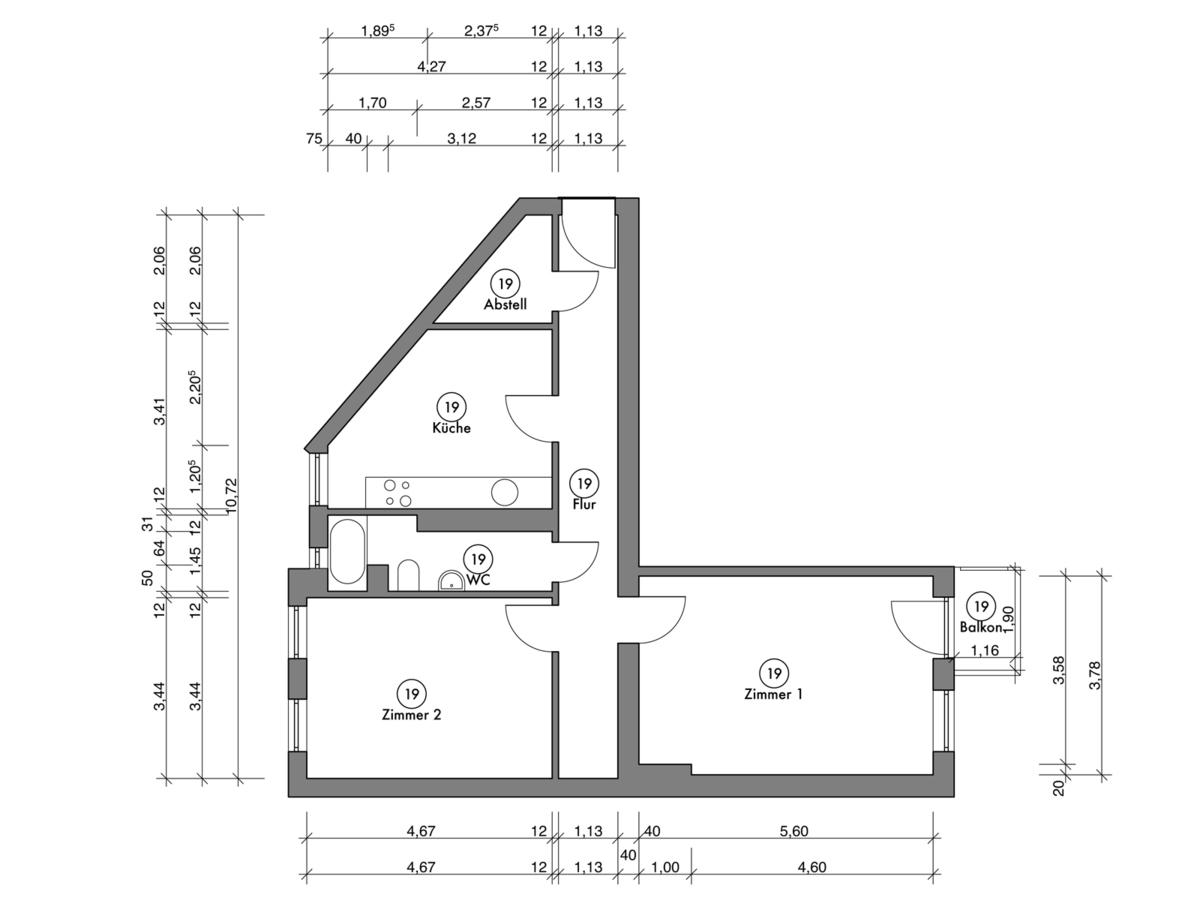 Floor plan unit 19 | Erasmusstraße