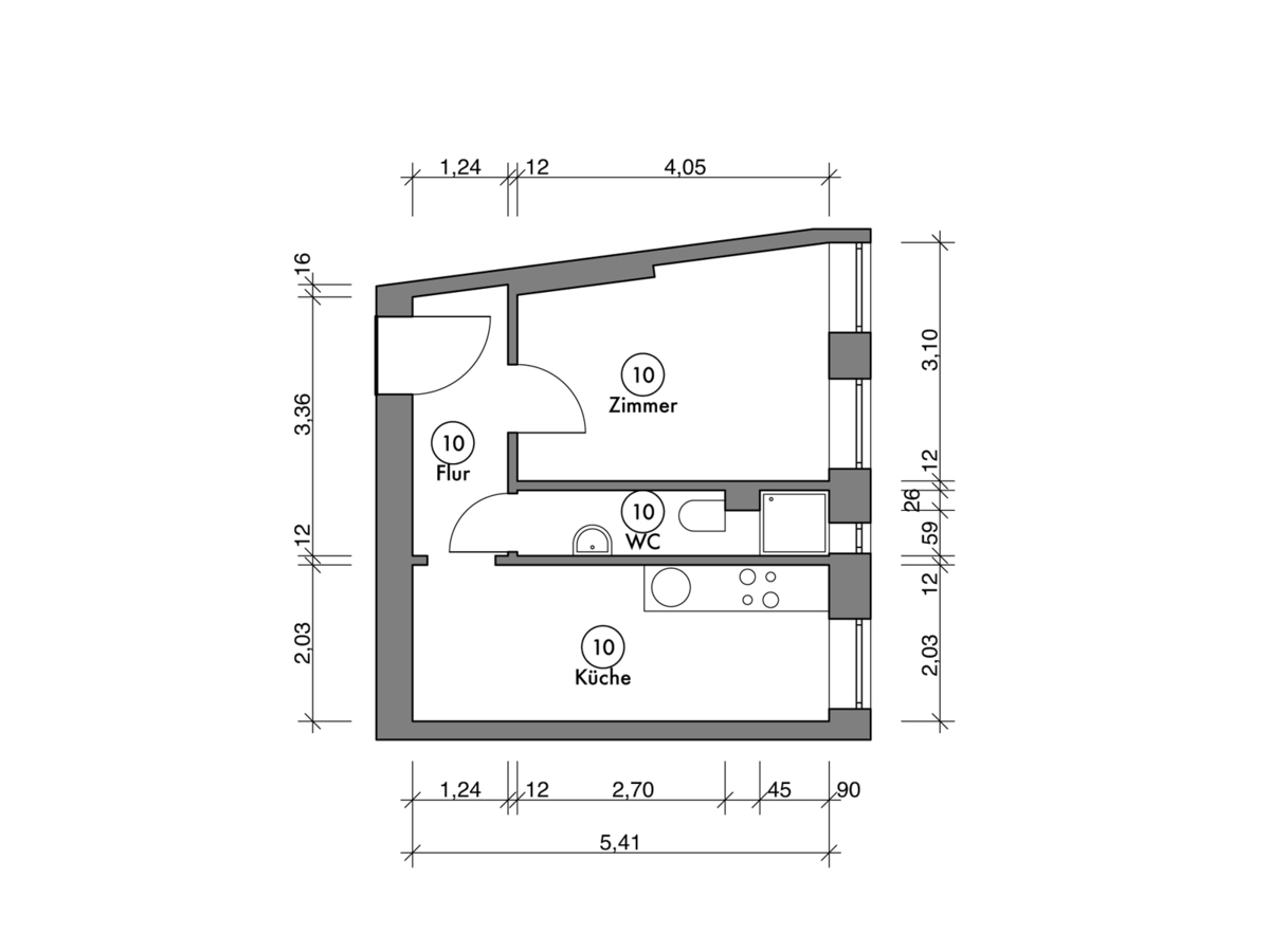Floor plan unit 10 | Erasmusstraße