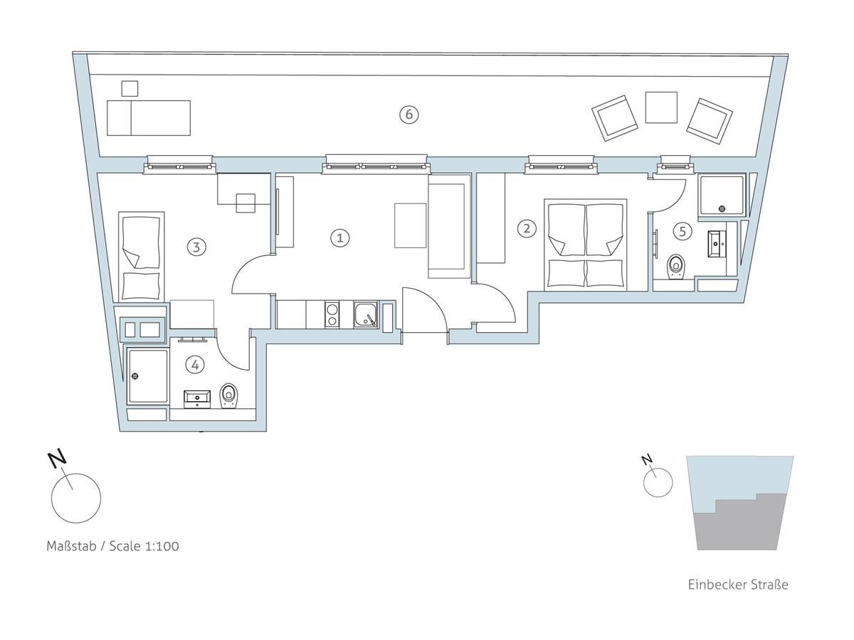 Grundriss WE 22 | Einbecker Straße