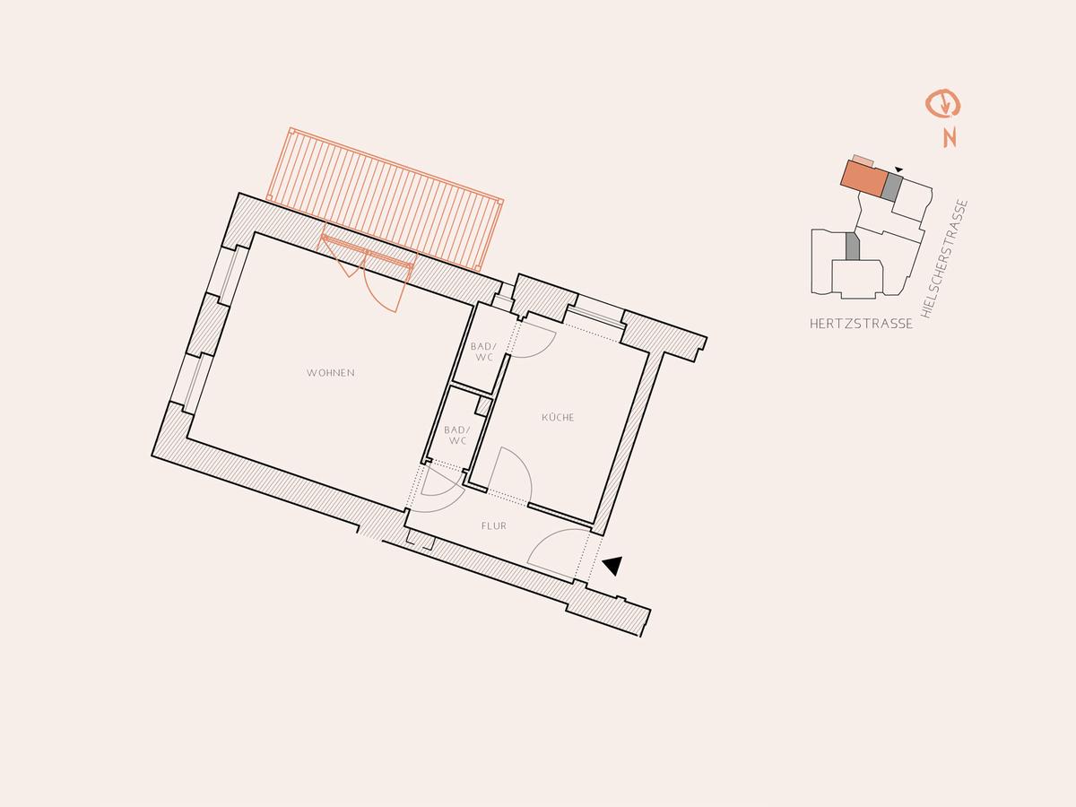 Floor plan unit 19 | Hertzstraße