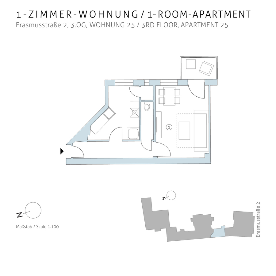 Floorplan unit 25 | Erasmusstraße