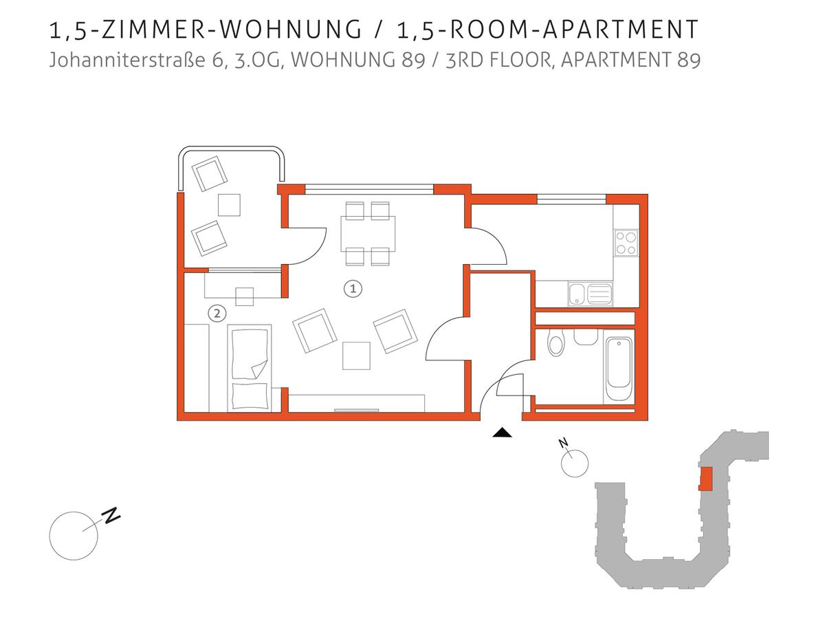 Grundriss 89 | Johanniterstraße