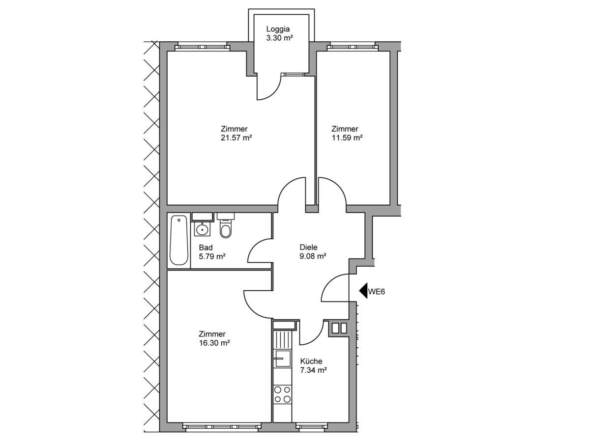 Floor plan unit 06 | Kopfstraße