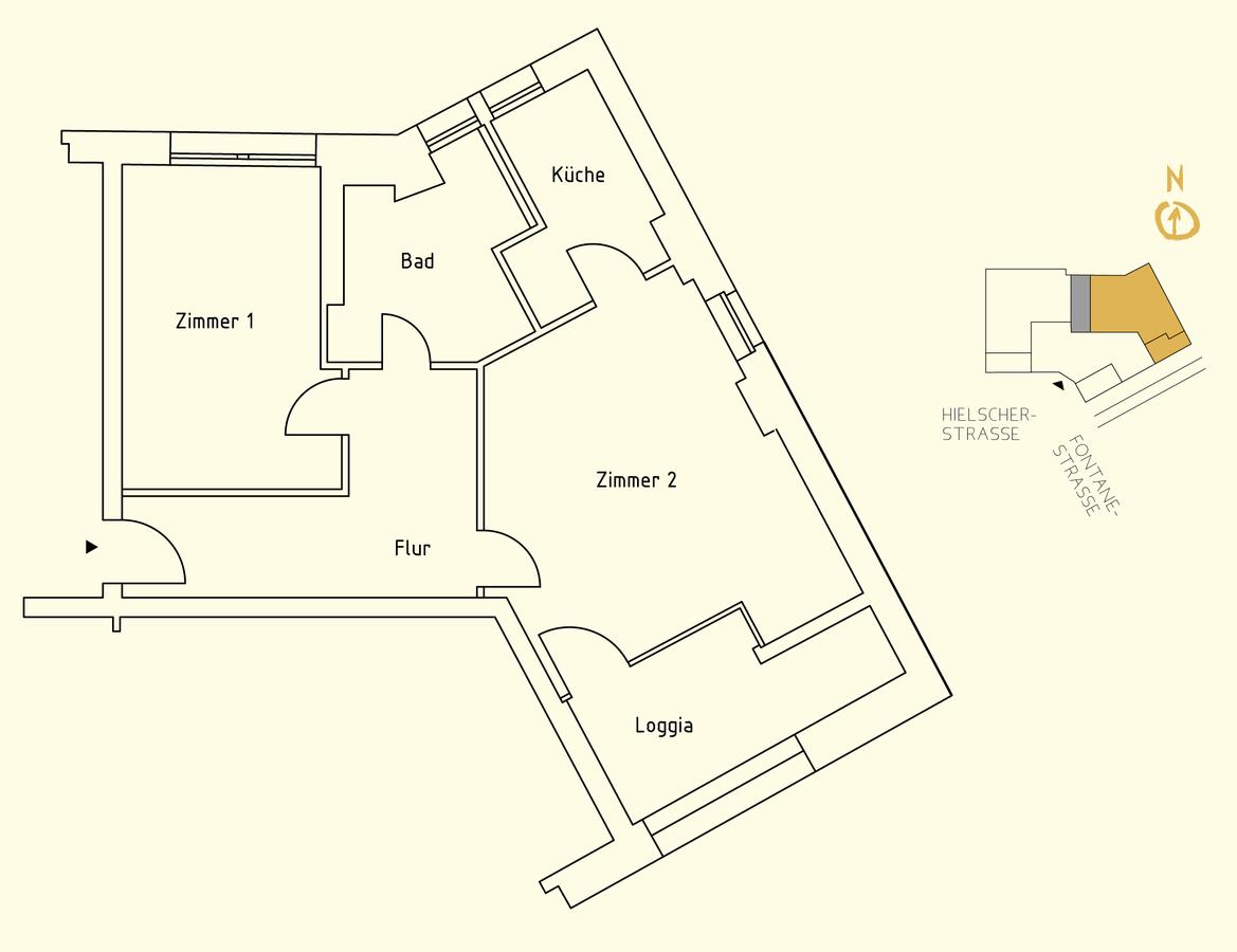 Floor plan unit 14 | Hielscher Straße