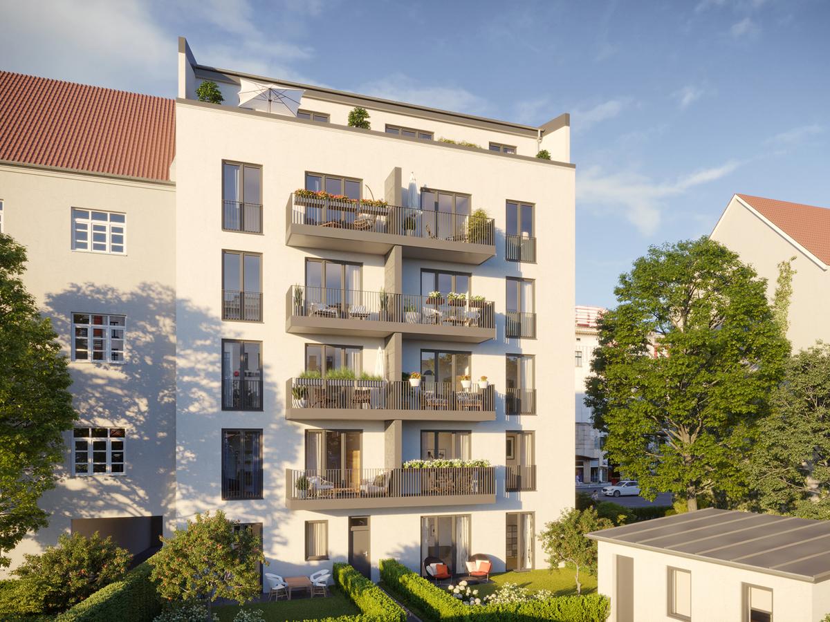 Hinterhausansicht Rendering | Einbecker Straße
