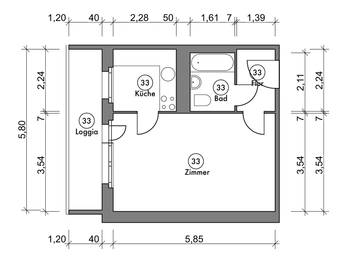 Floor plan unit 33 | Marchwitzastraße