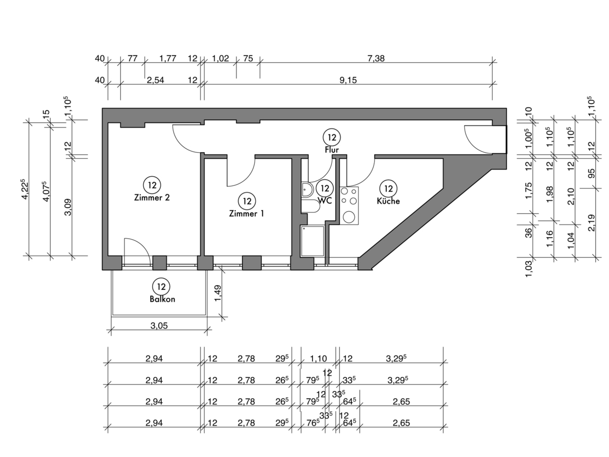 Floor plan unit 12 | Erasmusstraße