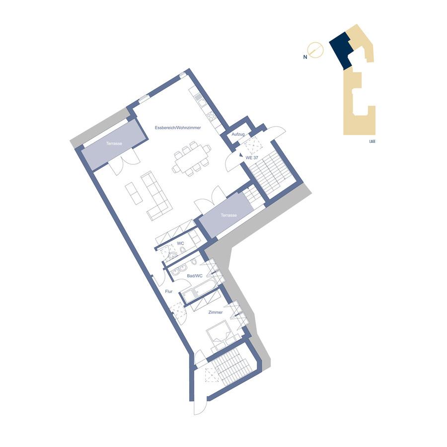 Attic Unit 37 configuration option | Riehlstraße