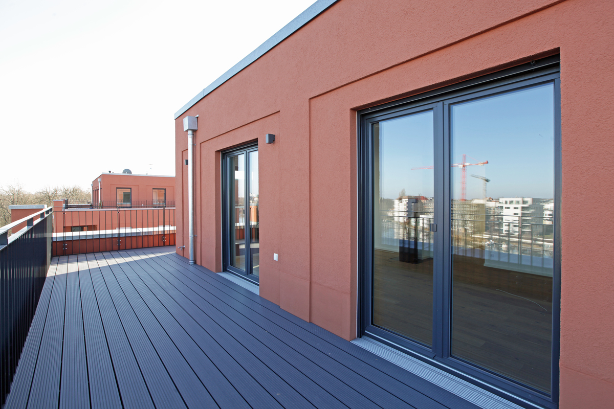 Terrasse am Wohn- und Esszimmer | Ottomar-Geschke-Straße