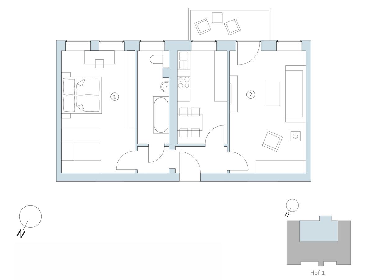 Floor plan unit 17 | Binzstraße