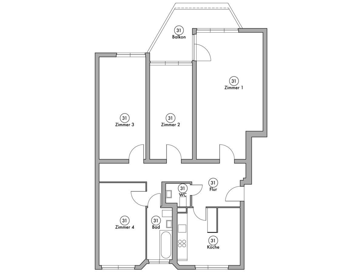 Floor plan unit 31 | Wintersteinstraße