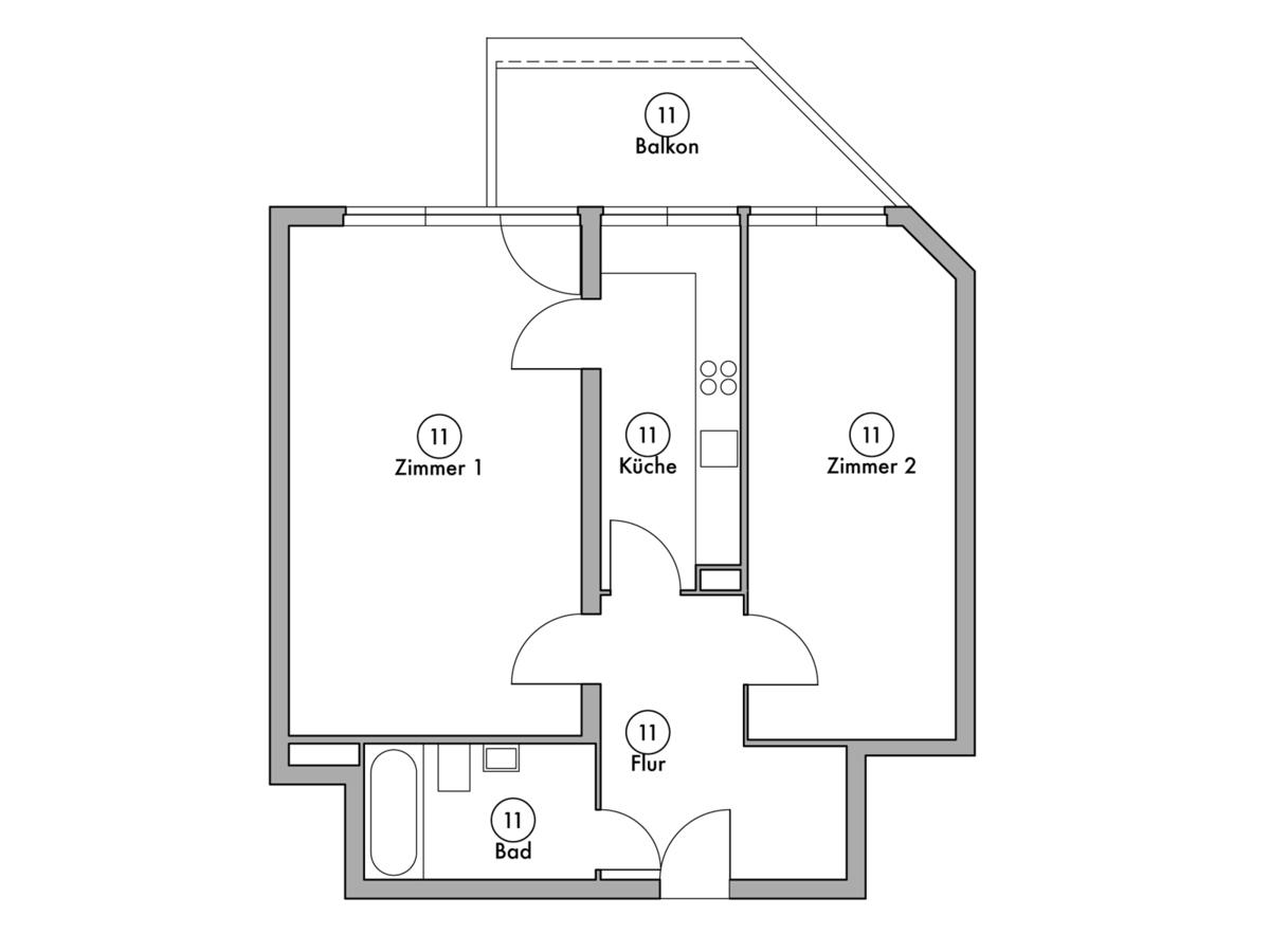 Floor plan unit 11 | Wintersteinstraße