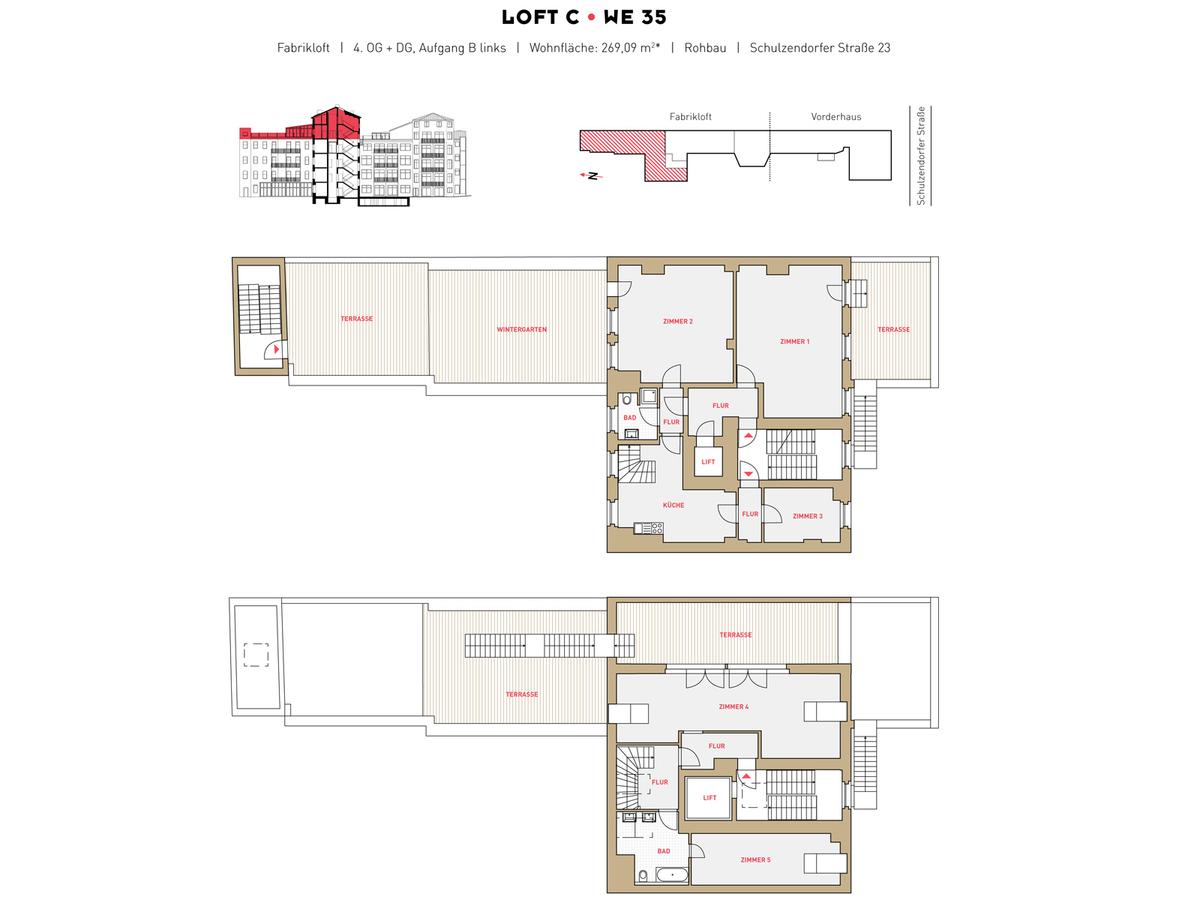 Floor plan LOFT C - Unit 35 | Schulzendorfer Straße