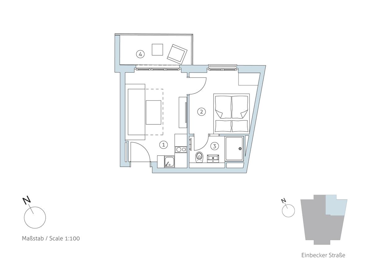 Grundriss WE 12 | Einbecker Straße