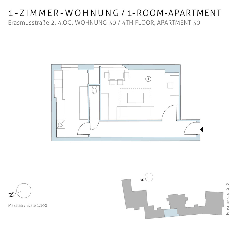Floorplan unit 30 | Erasmusstraße