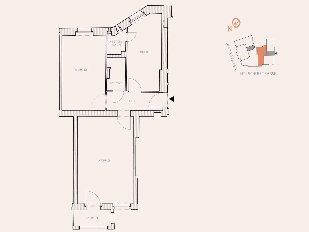 Floor plan unit 14 | Hertzstraße