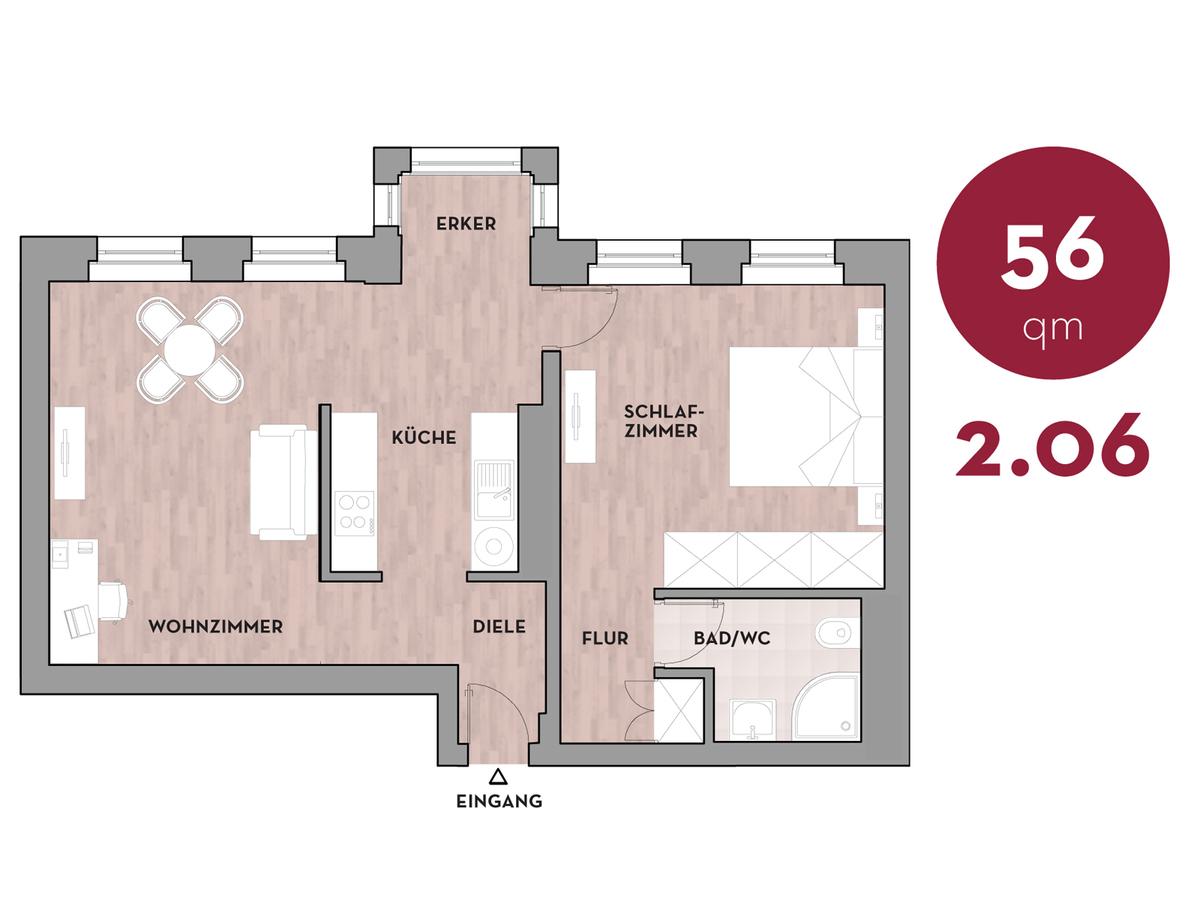 Grundriss 206   Dorotheenstraße