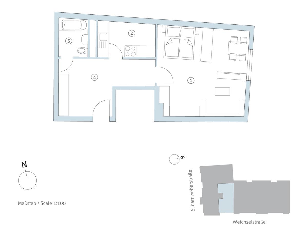 Grundriss WE 11 | Scharnweberstraße