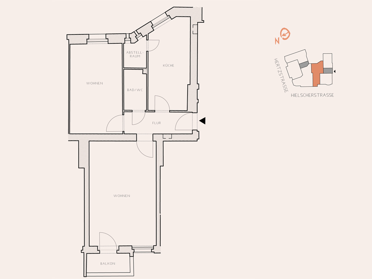Floor plan unit 17 | Hertzstraße