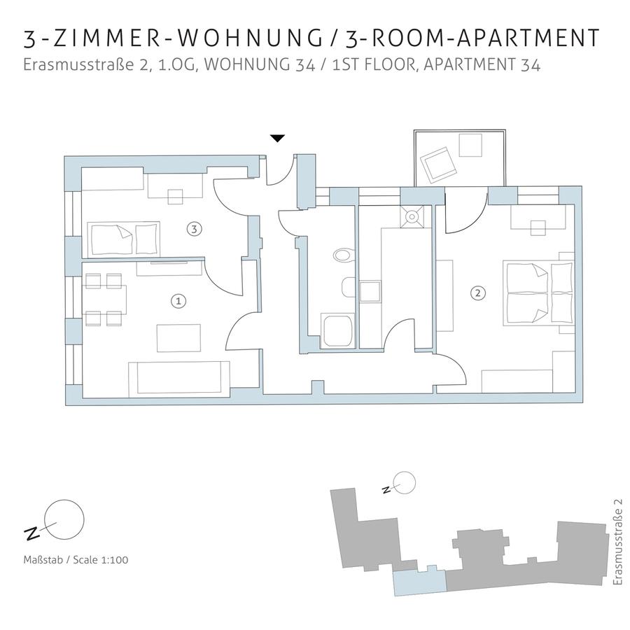 Floorplan unit 34 | Erasmusstraße