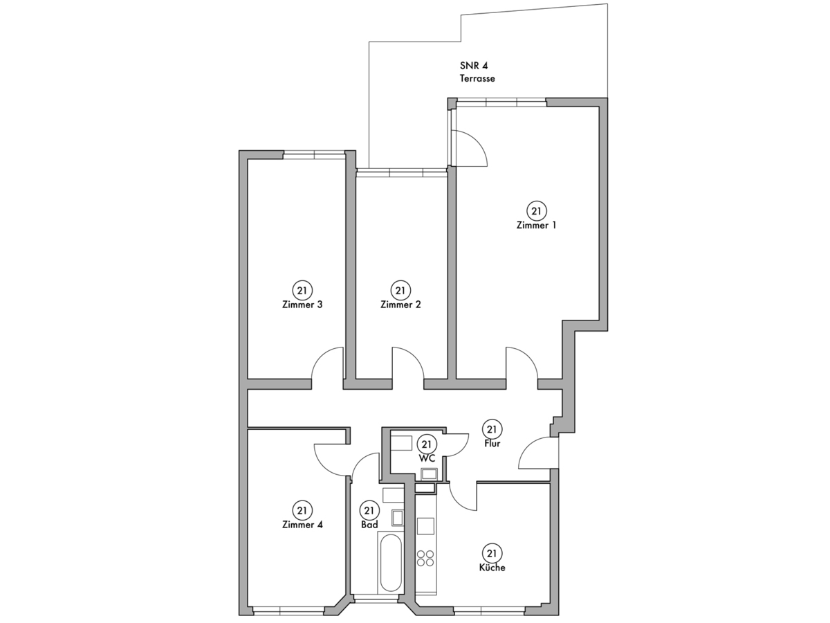 Floor plan unit 21 | Wintersteinstraße