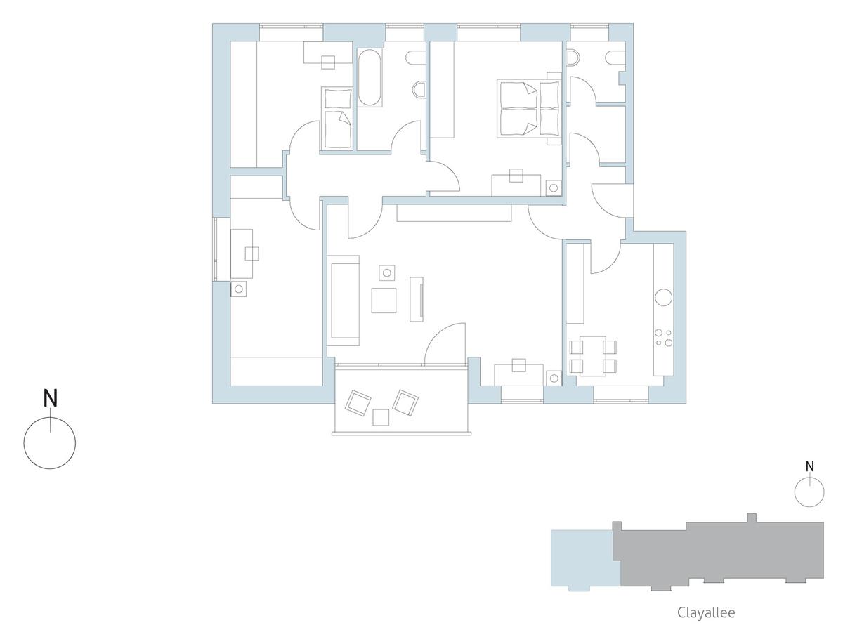 Floor plan unit 32 | Clayallee