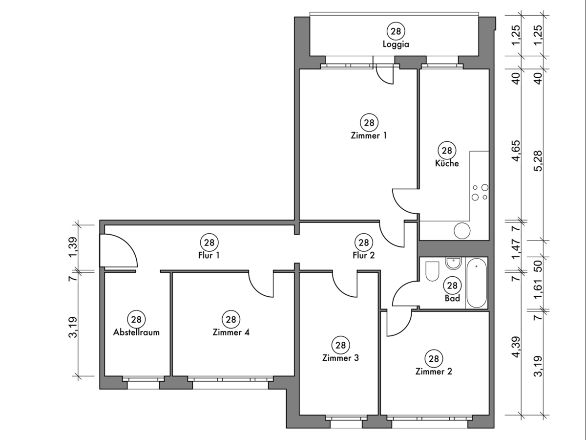 Floor plan unit 28 | Marchwitzastraße