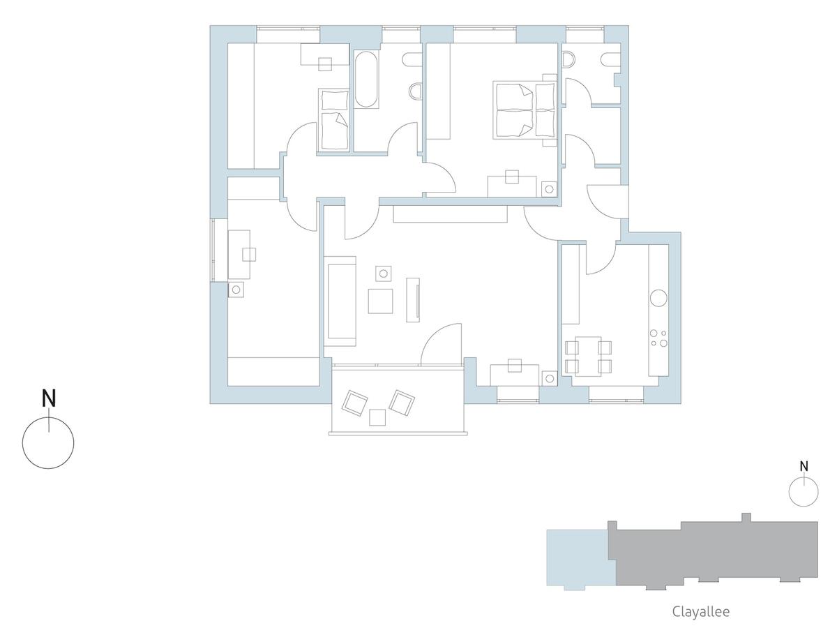 Floor plan unit 34 | Clayallee