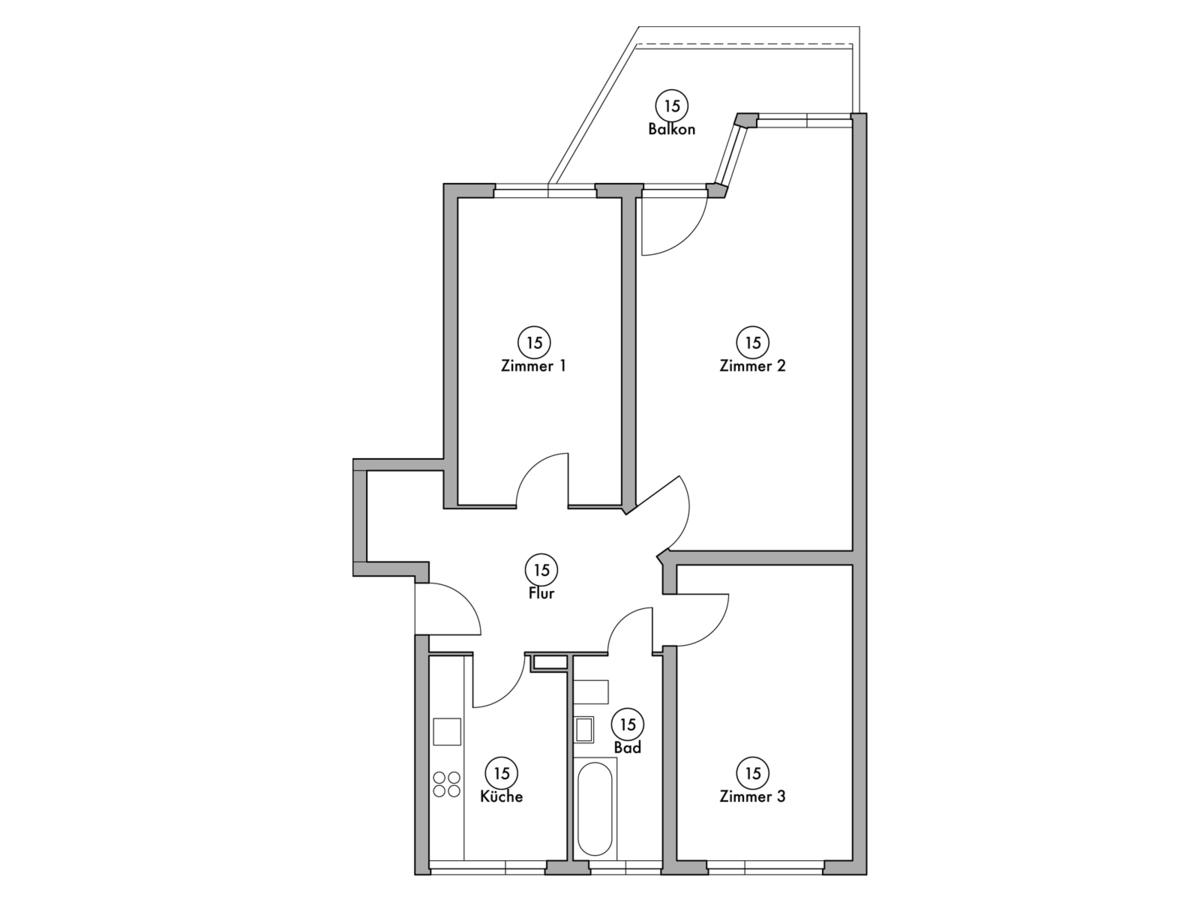 Floor plan unit 15 | Wintersteinstraße