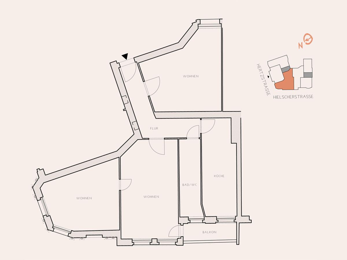 Floor plan unit 6 | Hertzstraße