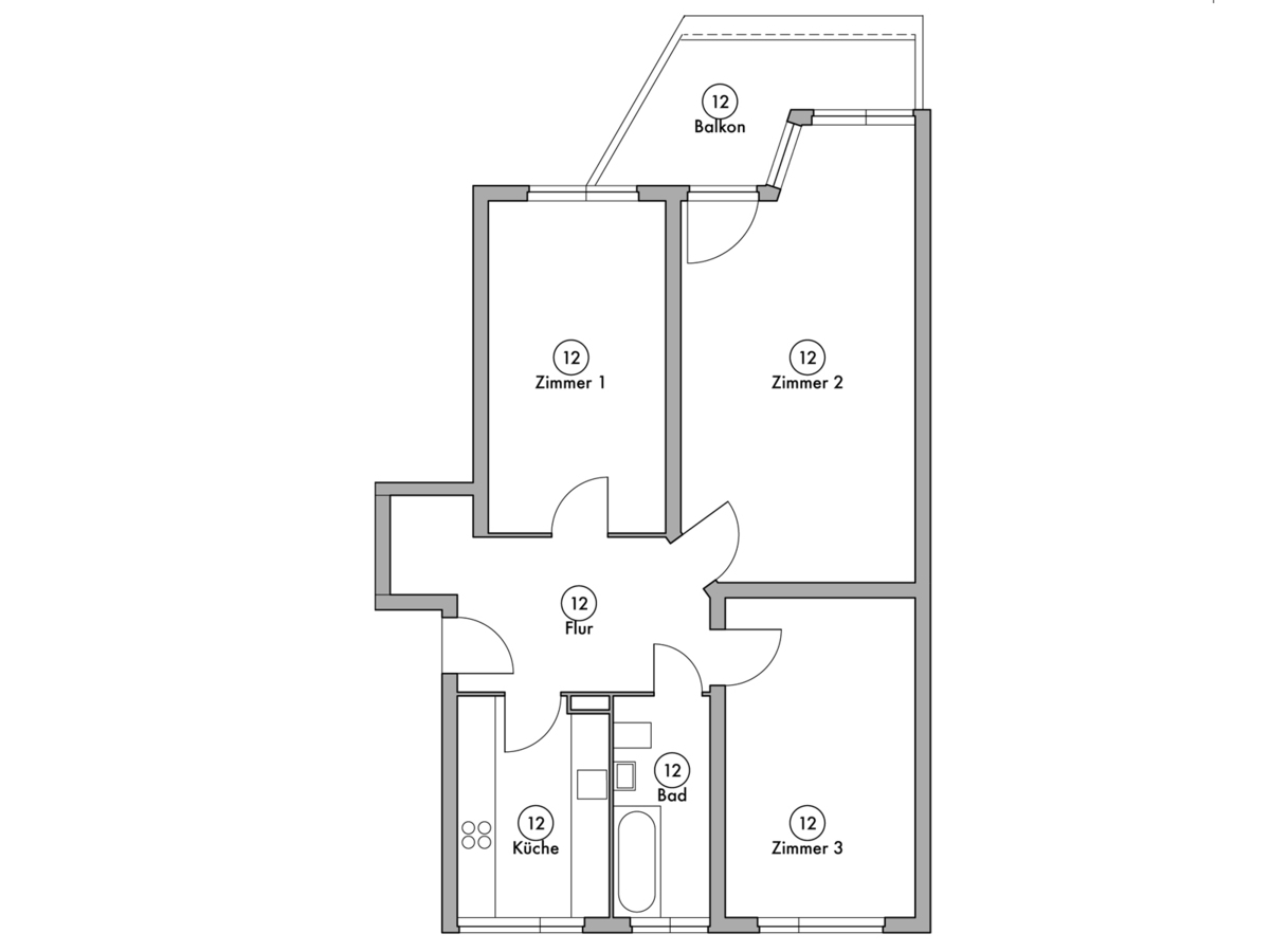 Floor plan unit 12 | Wintersteinstraße